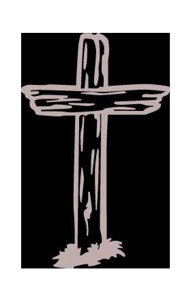 Wooden Cross Sticker 3029