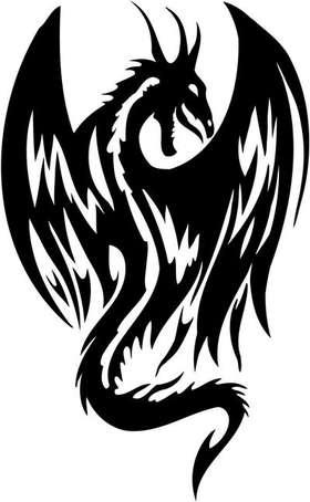 Tribal Dragon Sticker 82