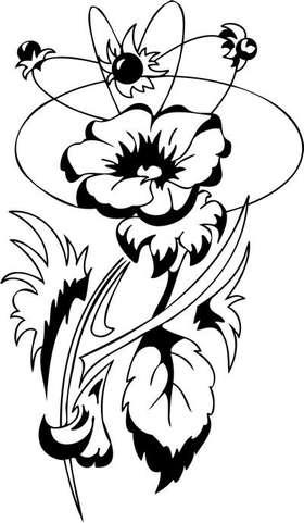 Tribal Flower Sticker 158