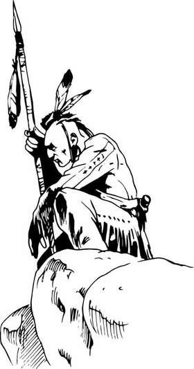Native American Scout Sticker