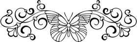 Butterfly Heart Sticker 1