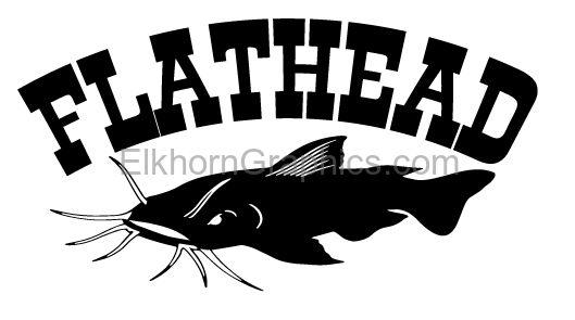 Flathead Catfish Sticker Catfish Stickers Elkhorn Graphics Llc