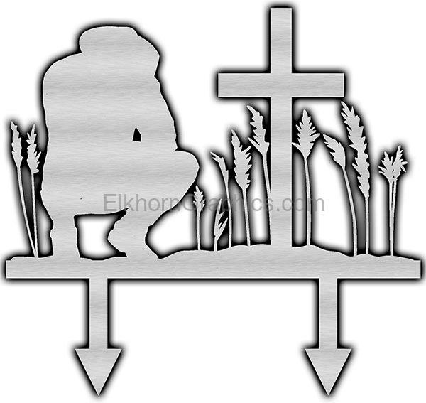 Cowboy Cross Metal Art