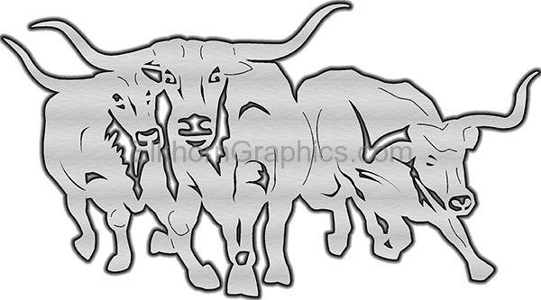 Steer Running Metal Art
